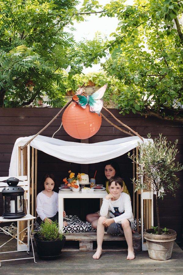 s lection jardin 8 id es de cabanes diy pour les enfants mamandiy enfants kids. Black Bedroom Furniture Sets. Home Design Ideas