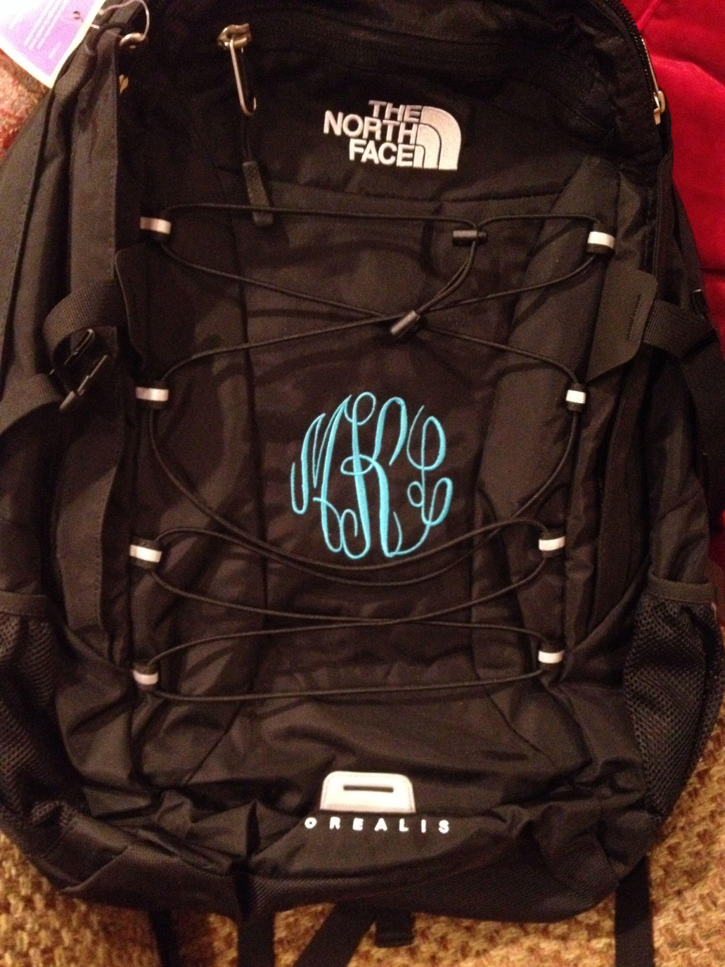Pin by meghan elizabeth on monogram north face backpack