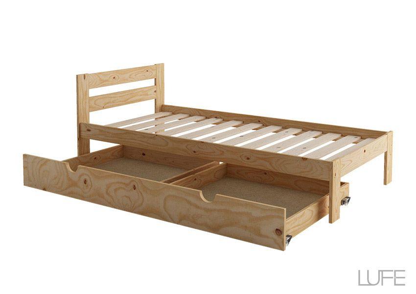 El secreto de un almacenaje perfecto est bajo tu cama for Camas individuales ikea