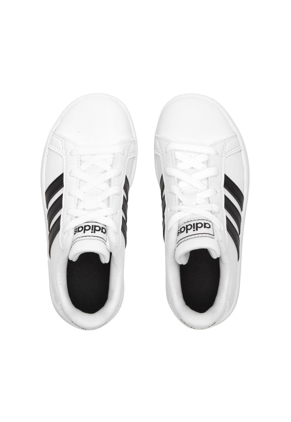 Tênis adidas Menino Grand Court K Branco em 2020   Adidas