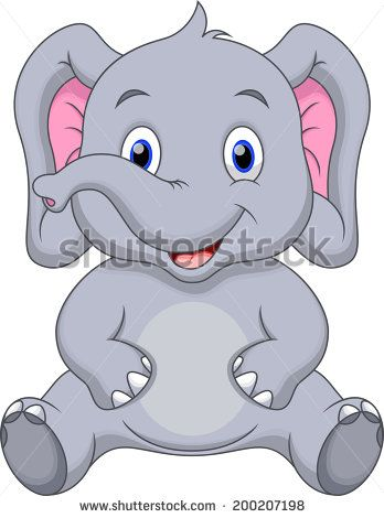 Cartoon Baby Elephant Pictures Free Vector For Free Download