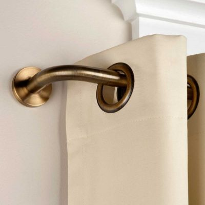 The Privacy Wraparound Curtain Rod Has A Wrap Around Design That