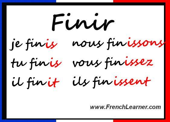 French regular ir verbs also etudier en francais learn rh pinterest