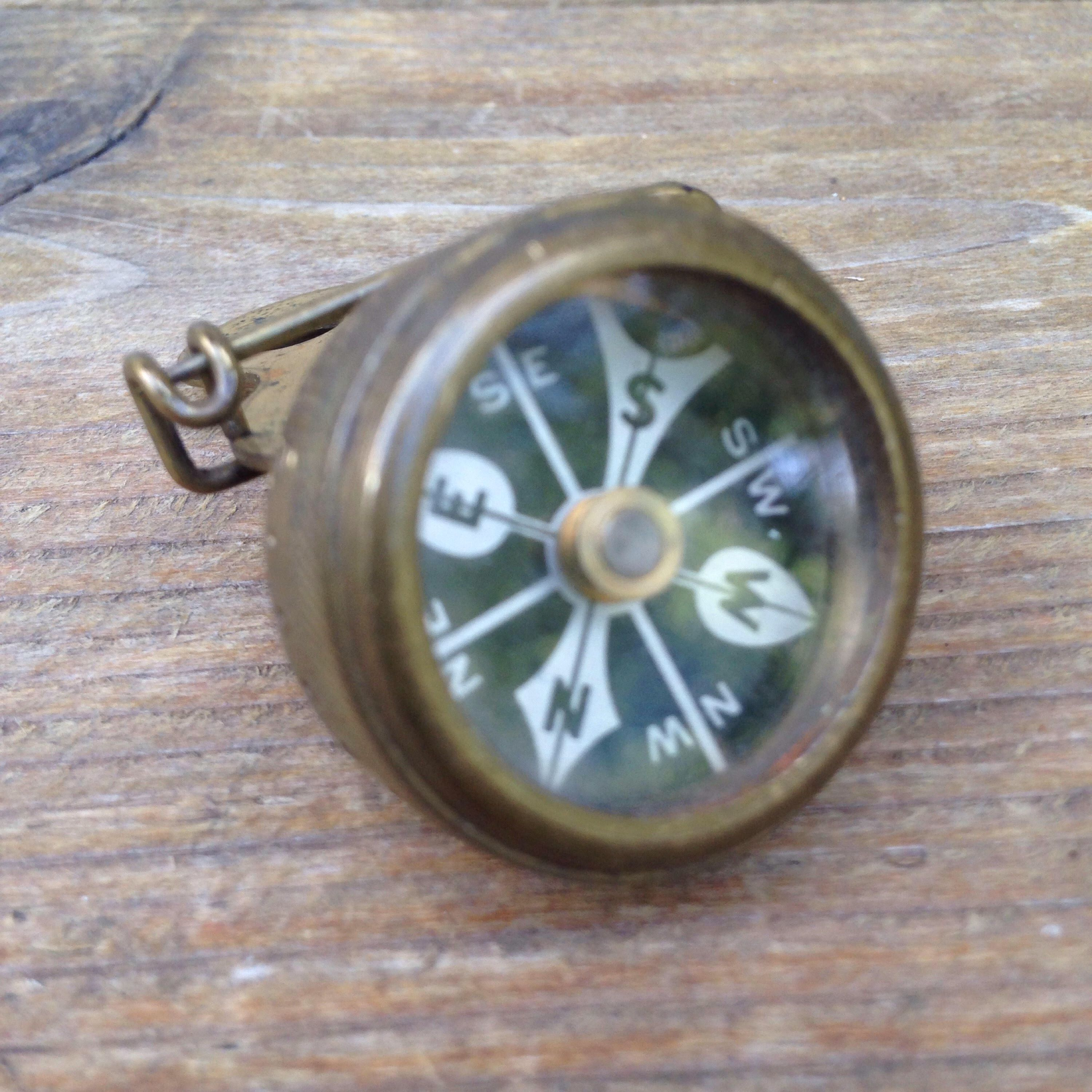 A Personal Favorite From My Etsy Shop Https Www Etsy Com Listing 559716937 Vintage Marbles Gladstone Brass Compass My Etsy Shop Etsy Shop Vintage
