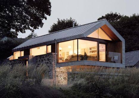 maison bois toiture zinc - Recherche Google Tiny house Pinterest - maison toit en verre