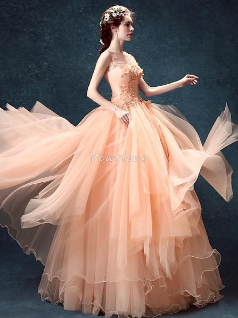 Pretty Pink Tulle Wedding Gown Gallery - Images for wedding gown ...