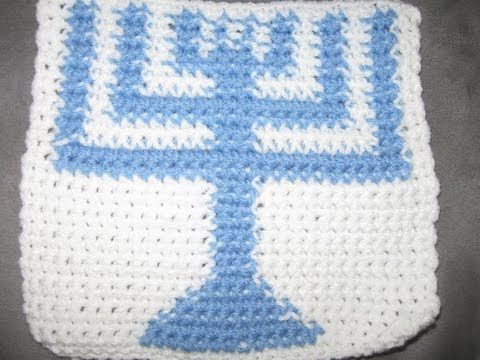 ▷ Crocheted Menorah Granny Square Tutorial part 1 - YouTube   tiğ ...