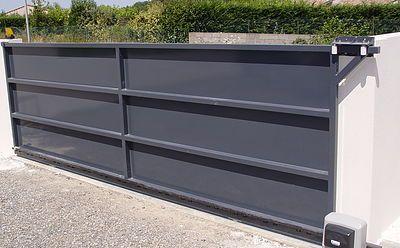 portail coulissant acier galvanis recherche google gates pinterest portail coulissant. Black Bedroom Furniture Sets. Home Design Ideas
