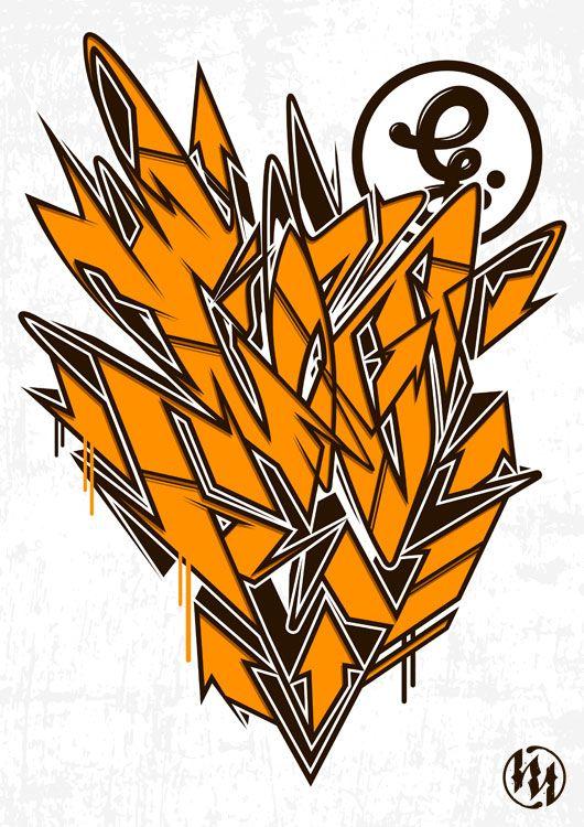 Graffiti style t shirt design midmor art