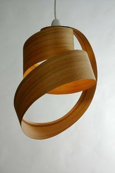 Bent Wood Light Fixture