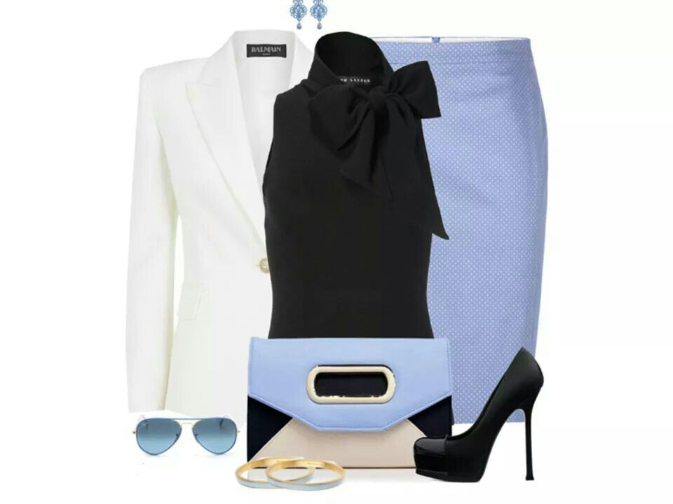 Baby blue and black