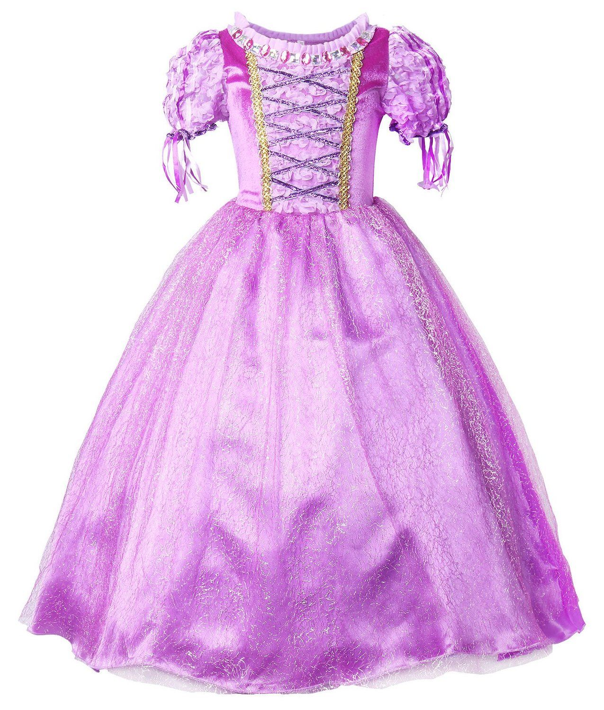 Amazon.com: JerrisApparel New Princess Rapunzel Party Dress Costume ...