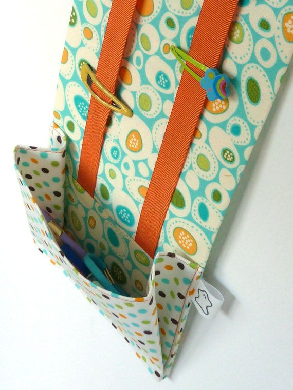 Hairclip and Ponytail holder organizer Aqua Pebbles - Made to order. €29.00, via Etsy.