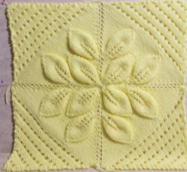 Knit Three Leaf Counterpane Knitting Pinterest Knitting
