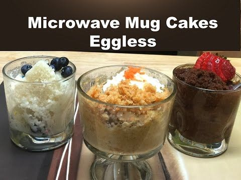 3 Classic Microwave Mug Cakes without Eggs | Vanilla ...