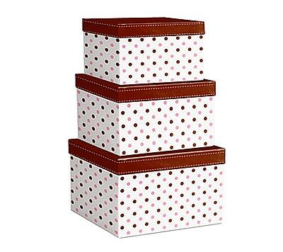 Nested Gift Boxes - Chocolate Dots - Product - Noble Gift ...