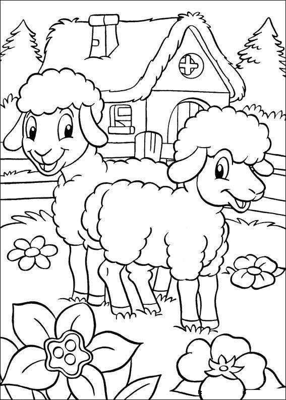 Lente Kleurplaten Lammetjes.Lammetjes In De Wei Kleurplaten Lenteknutsels En Boek