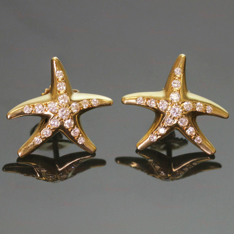 66b948d7c TIFFANY & CO. Elsa Peretti Diamond Yellow Gold Starfish Earrings ...