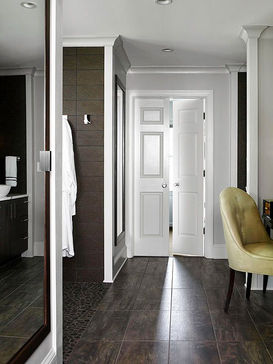 Tile that looks like wood comfort zone bathroom - Can you use laminate flooring in a bathroom ...