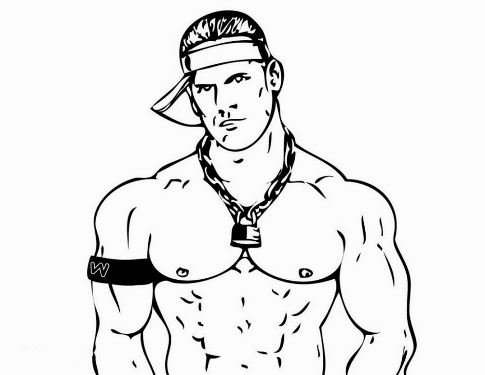John Cena Coloring Pages Coloring Pages Wwe Coloring Pages