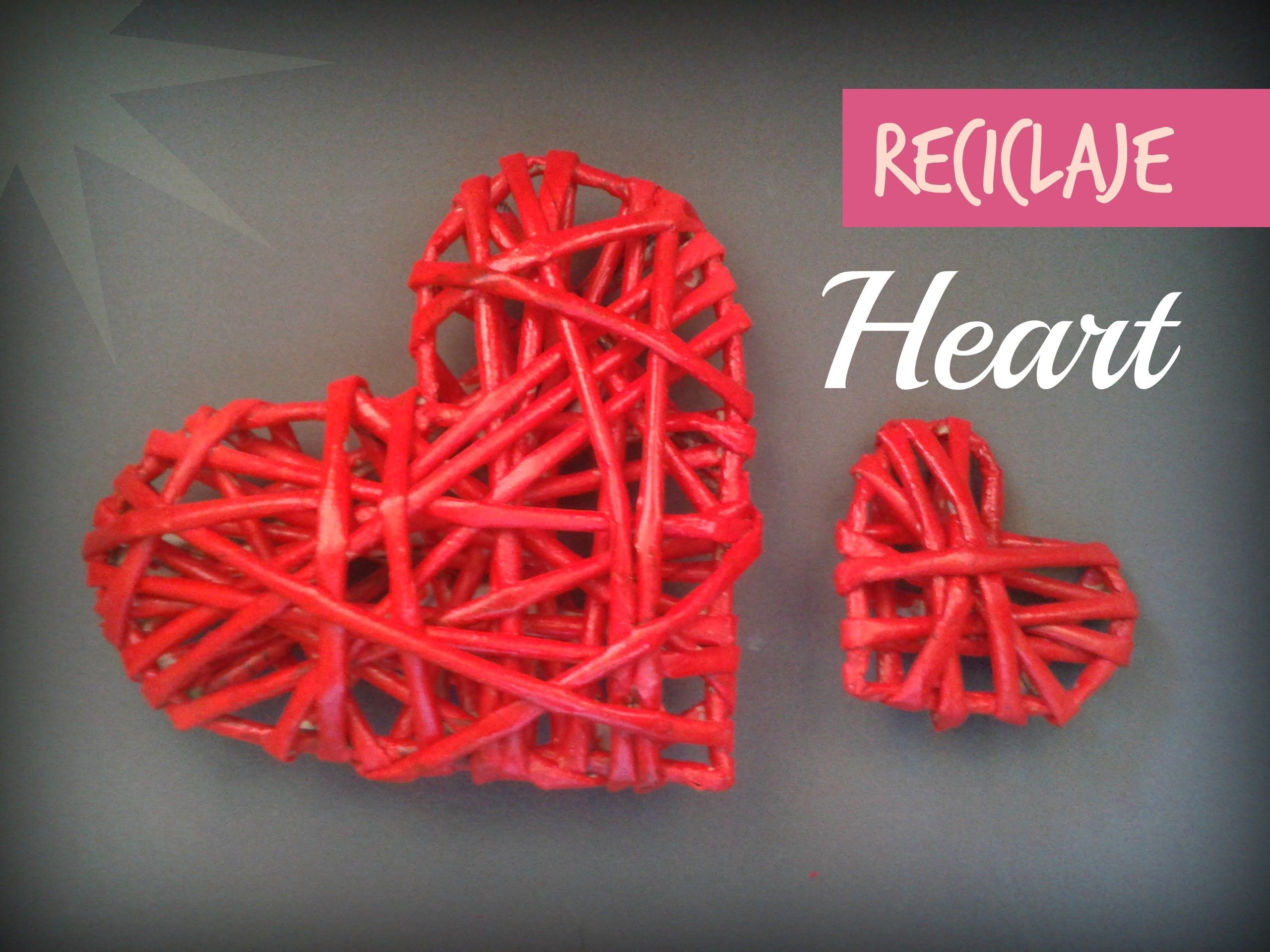 Como hacer un corazon de tubitos de periodico san - Como hacer adornos de san valentin ...
