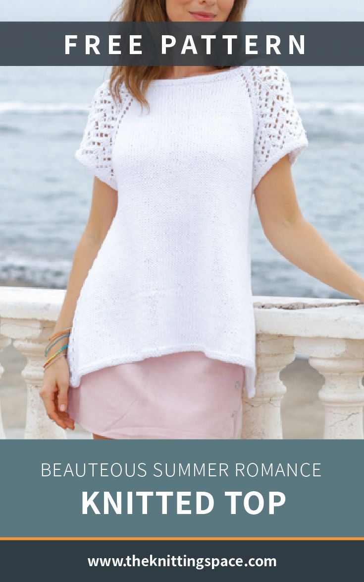 Beauteous Summer Romance Knitted Top [FREE Knitting Pattern]