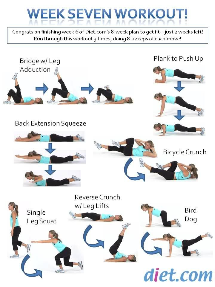 Week 7 of the workout challenge - no equipment necessary!