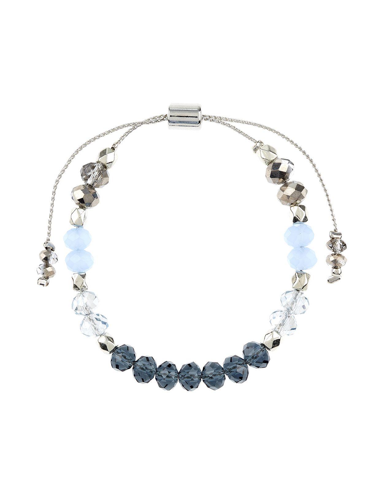 Pretty Glass Bead Extender Bracelet | Blue | Accessorize