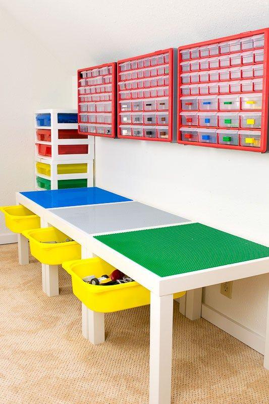 Table De Jeu Lego Avec Un Tiroir De Rangement Table De Jeu Lego