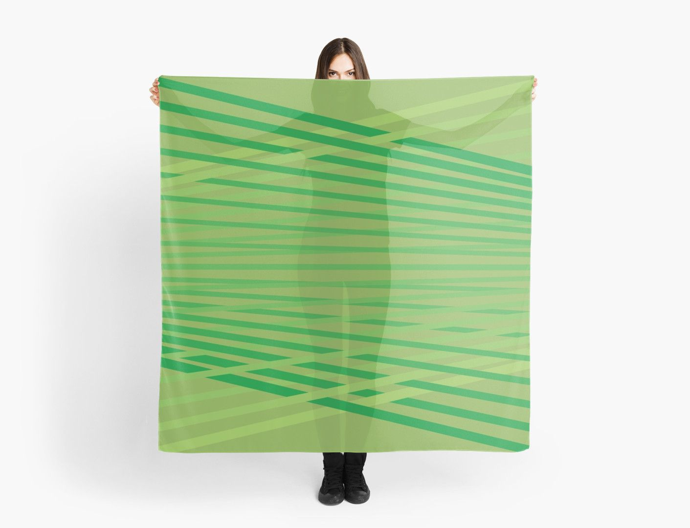 Green diagonals., in greenery green. • Also buy this artwork on apparel, stickers, phone cases, and more.
