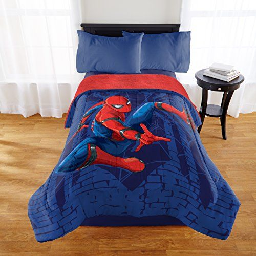 Spiderman Twinfull Comforter With Sherpa Reverse 984467869
