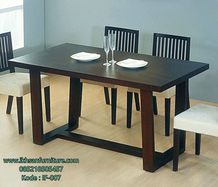 jual set meja makan minimalis furniture cafe terbaru