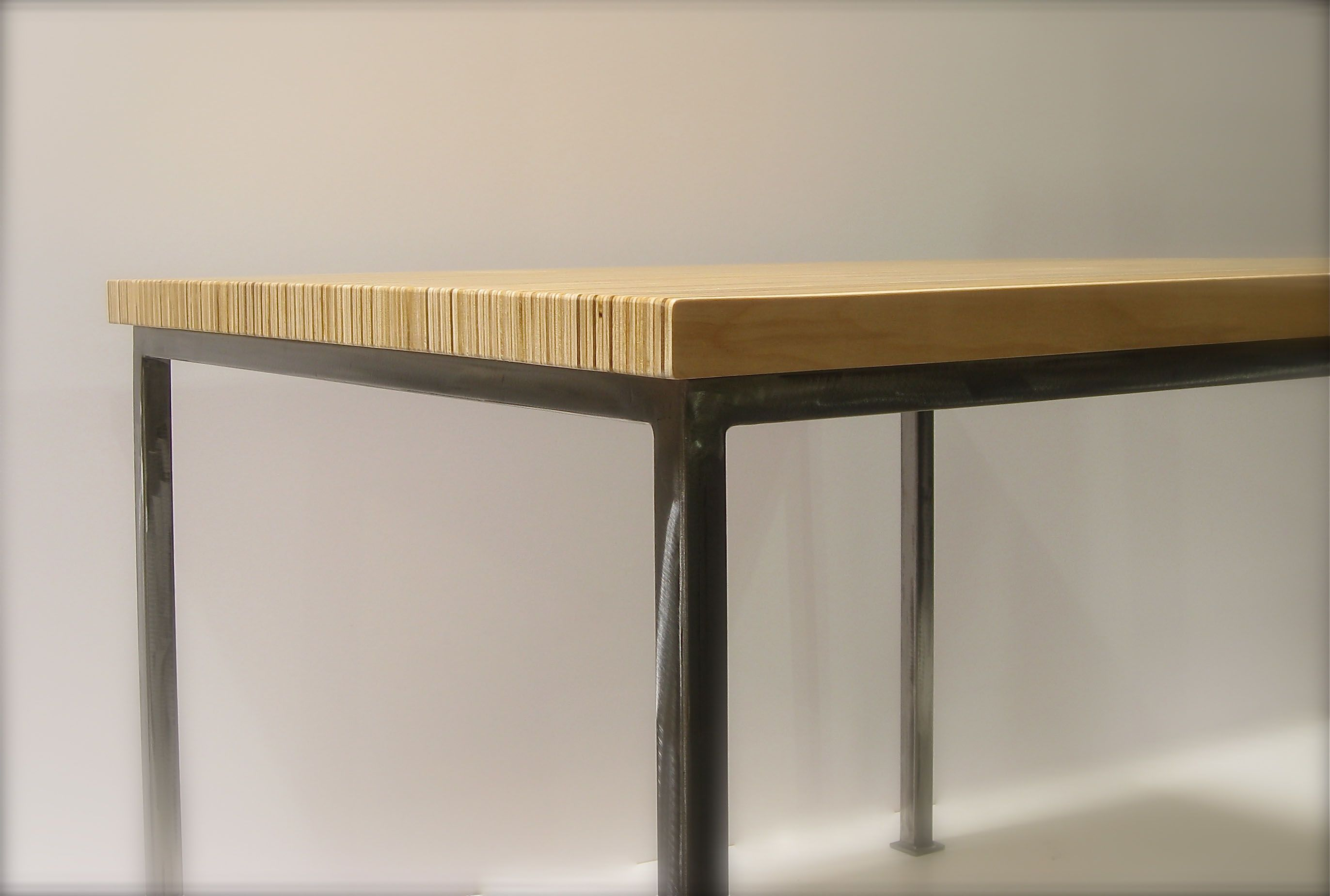 Stacked Plywood Dining Table