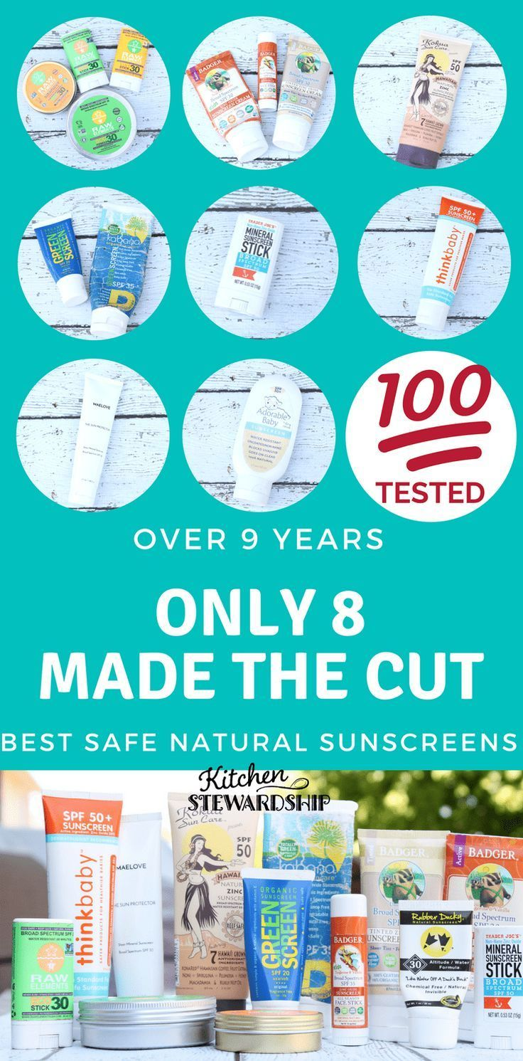 Over 100 Natural Sunscreens Reviewed! Natural sunscreen