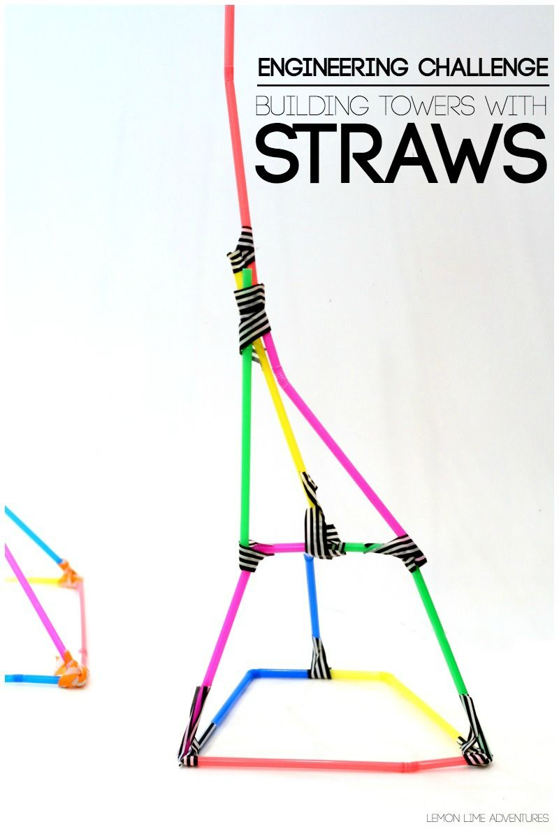 building with straws building activities and stem activities