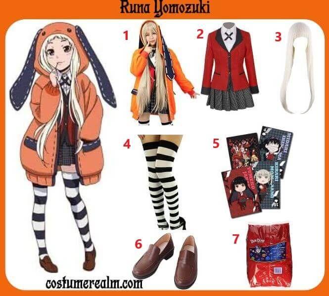 Diy Runa Yomozuki Costume in 2020 | Cosplay outfits, Anime ...