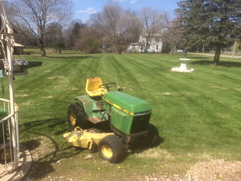 Just got done putting stripes in the yard lawn tractor