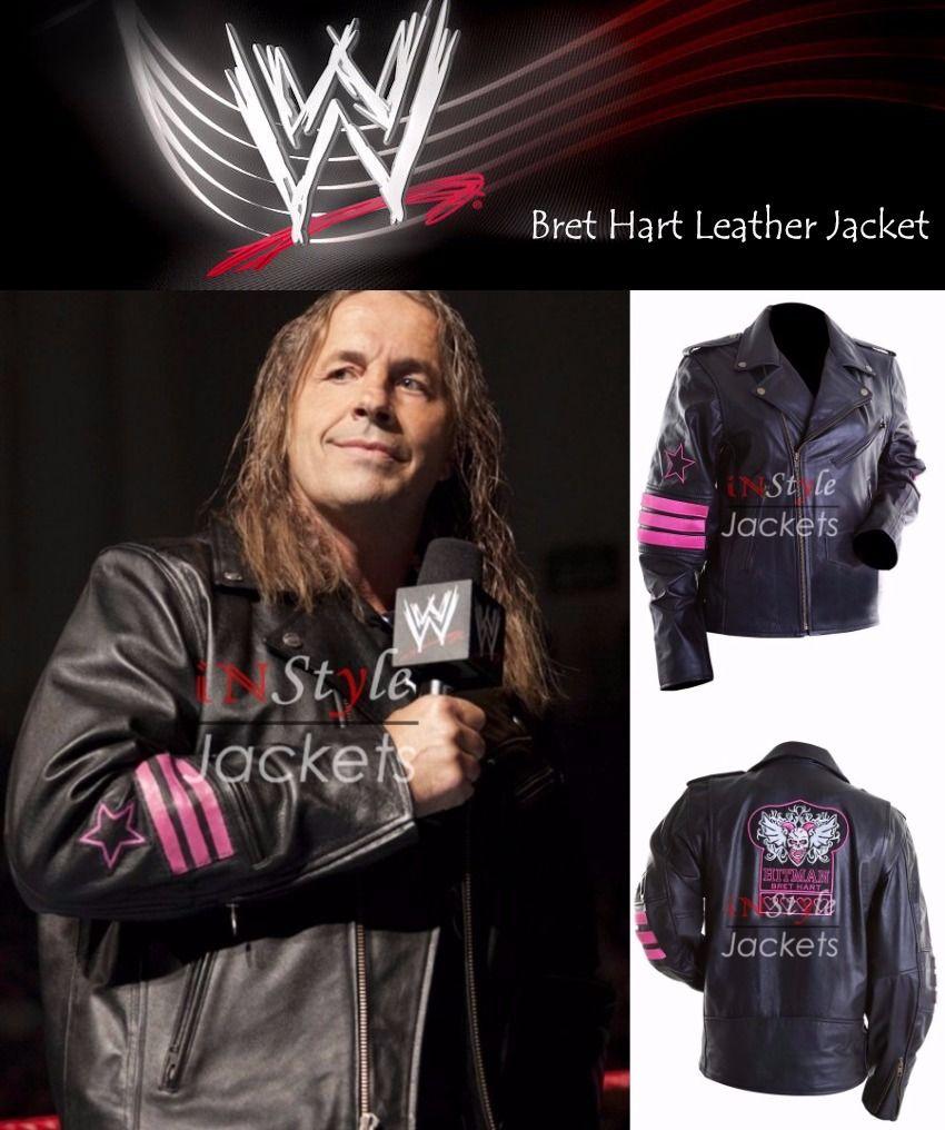 The Hitman Bret Hart Wwe Black Jacket Celebrity Jackets Leather Jacket Jackets [ 1016 x 850 Pixel ]