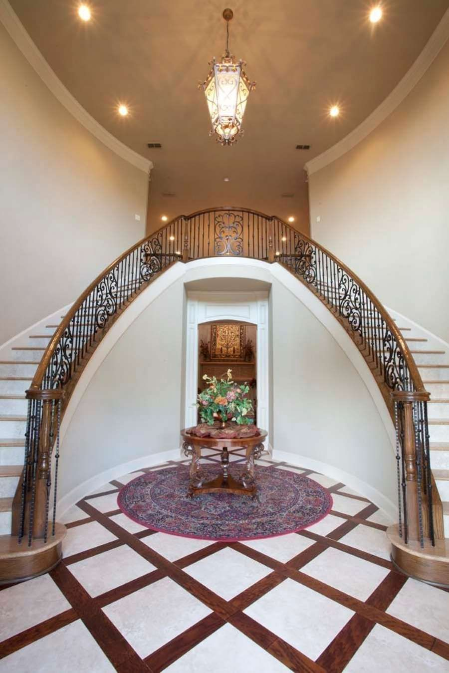 Best Simple Double Curve Staircases W Straight Spindles 640 x 480
