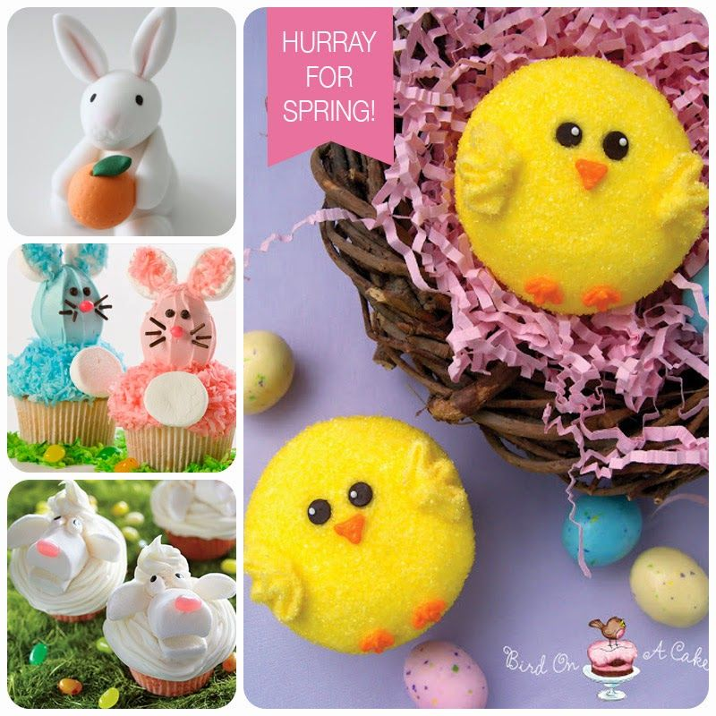 It's Written on the Wall: 29 Different Spring and Easter Cupcake Ideas-So Yummy!