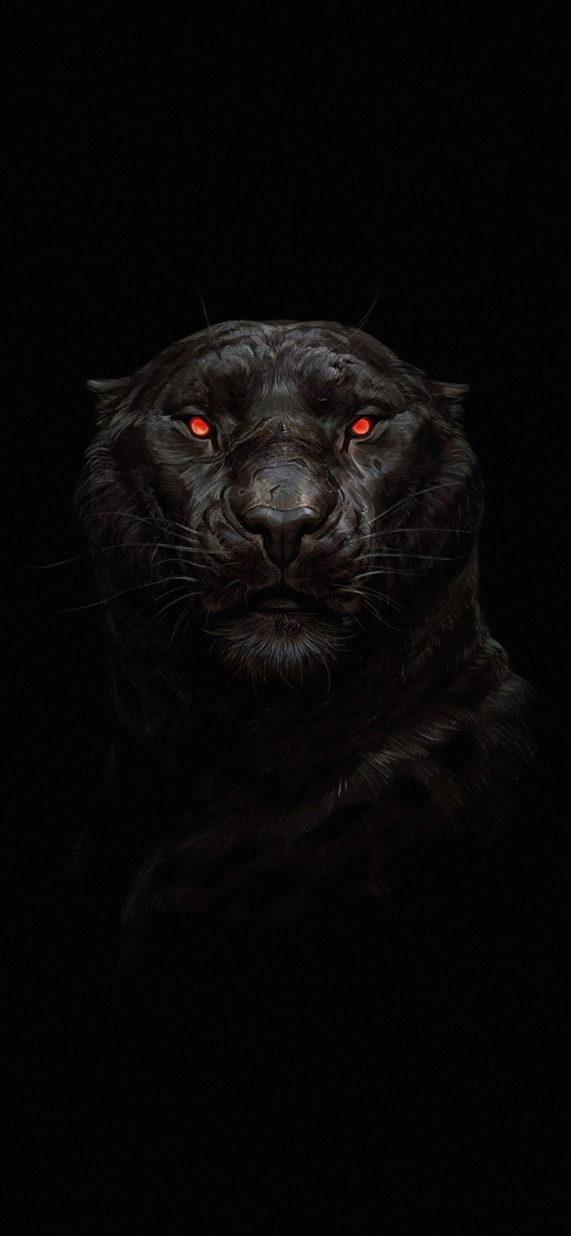 1125x2436 Tiger Glowing Red Eyes Predator Dark Wallpaper Darkwallpaperiphone 1125x2436 Tiger Dark Wallpaper Red And Black Wallpaper Dark Wallpaper Iphone