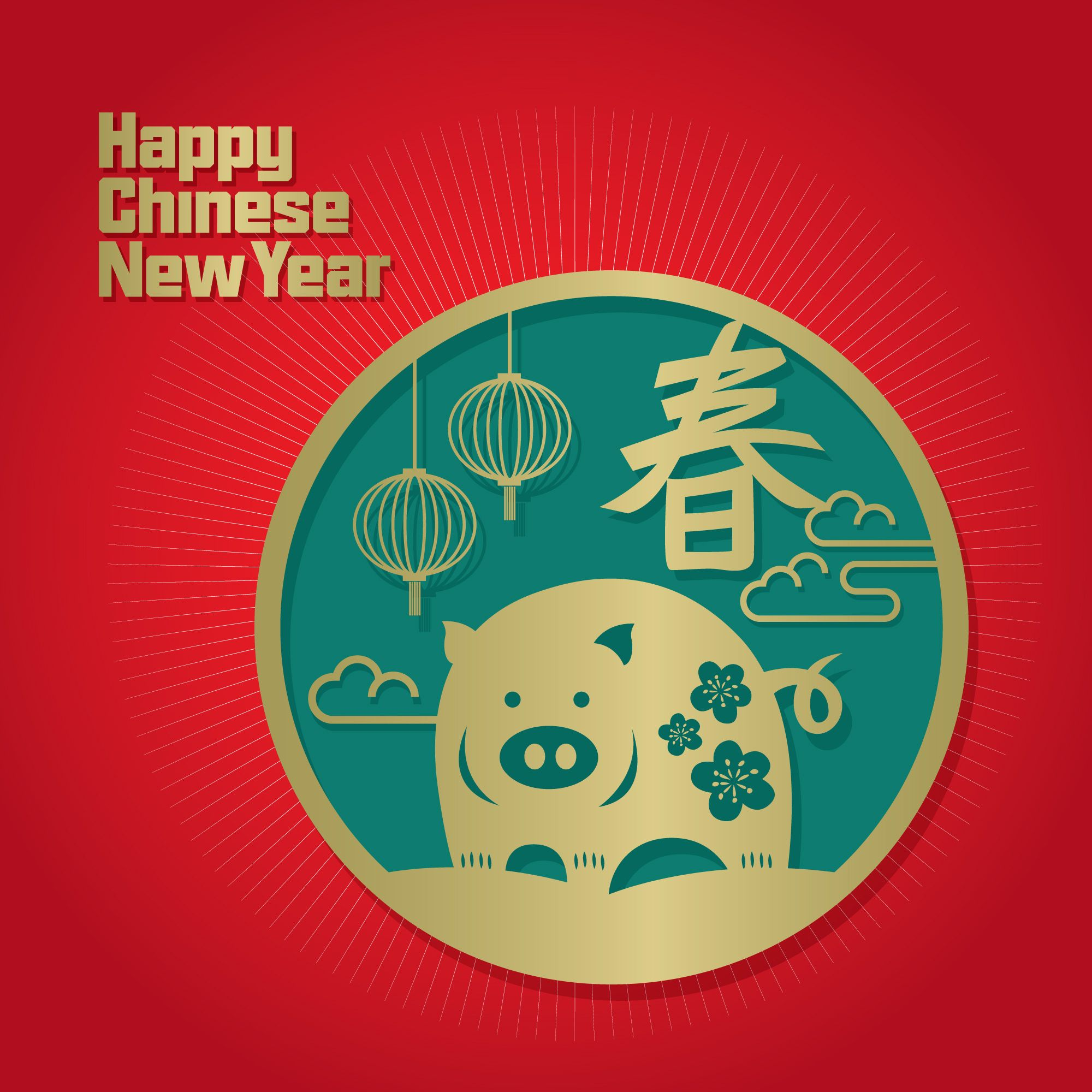 CNY 2019 ! Year of the pig. Happy chinese new year