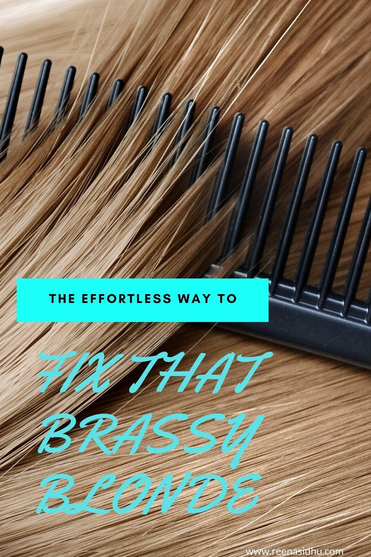 How to get rid of brassy hair with vinegar brassy hair