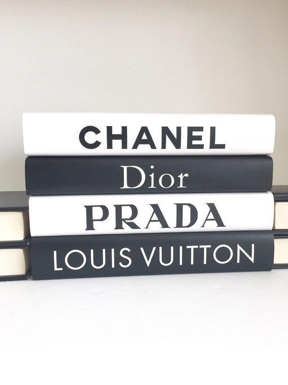 Fashion Designer Inspired Books Set Fashion Book Set Fashion New Designer Books Decor