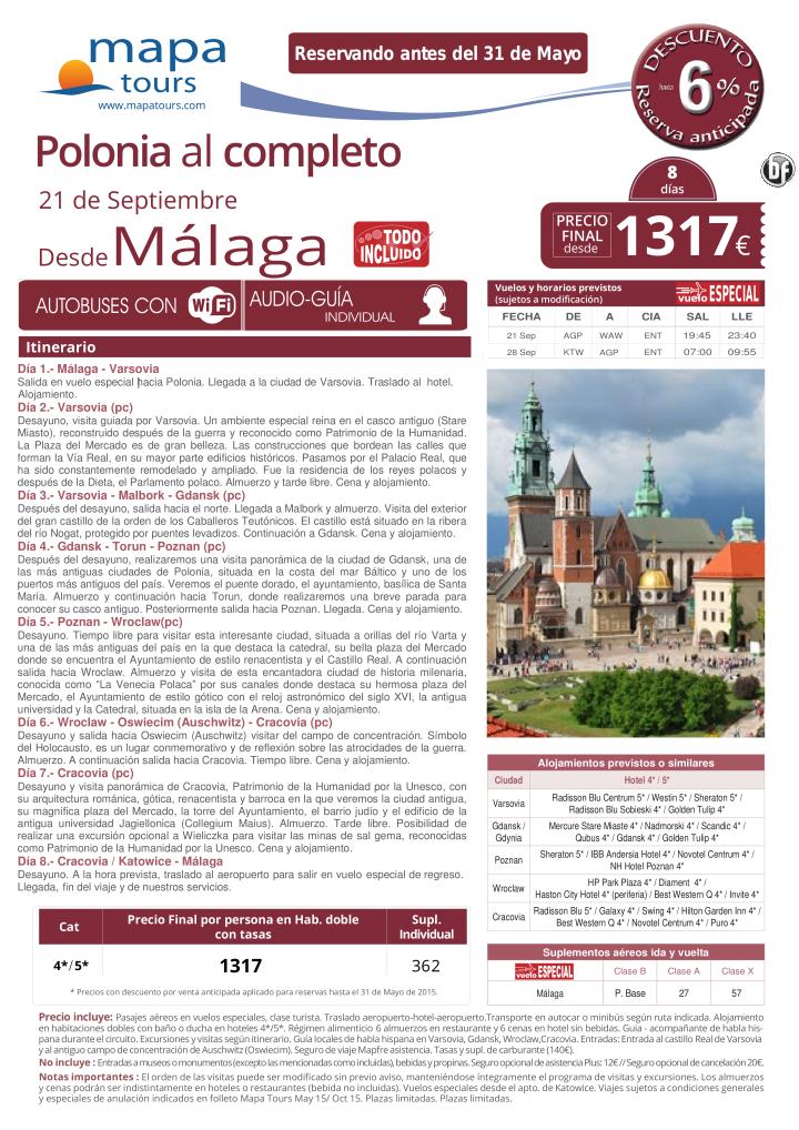 Polonia al Completo salida 21 sep desde Málaga desde 1317 ultimo minuto - http://zocotours.com/polonia-al-completo-salida-21-sep-desde-malaga-desde-1317-ultimo-minuto-3/