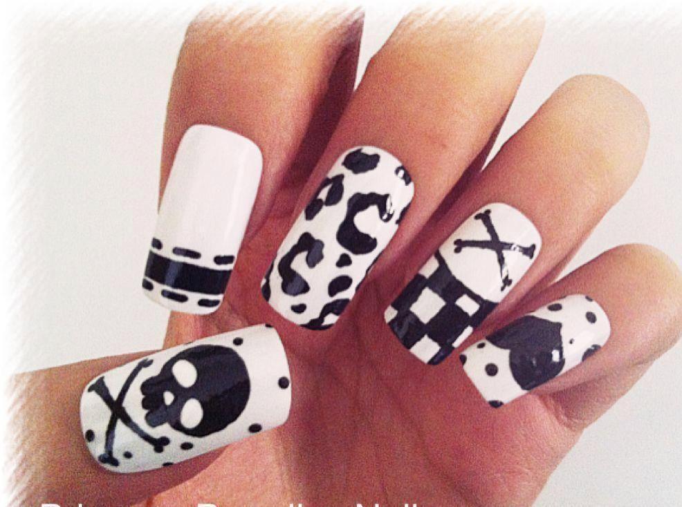 Princess Paradise Nails fake false art nail tips kawaii pink french ...