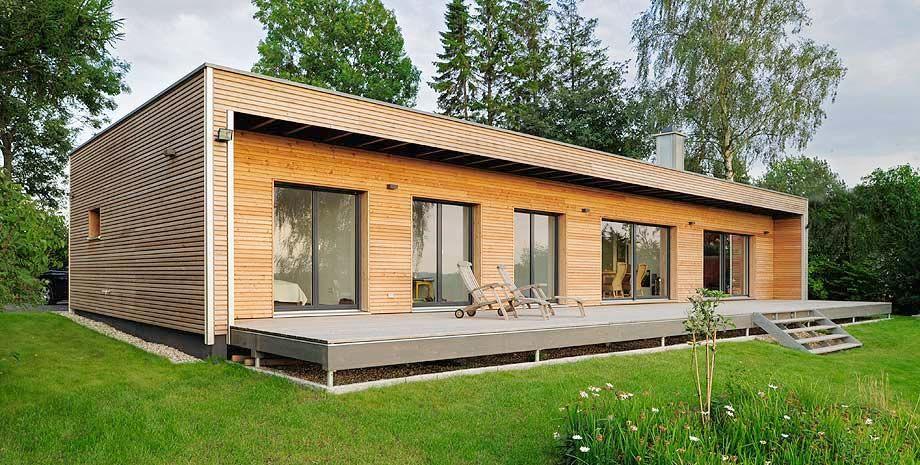 Case Moderne Ad Un Piano : Komforthaus entwurf moderner bungalow süd west ansicht