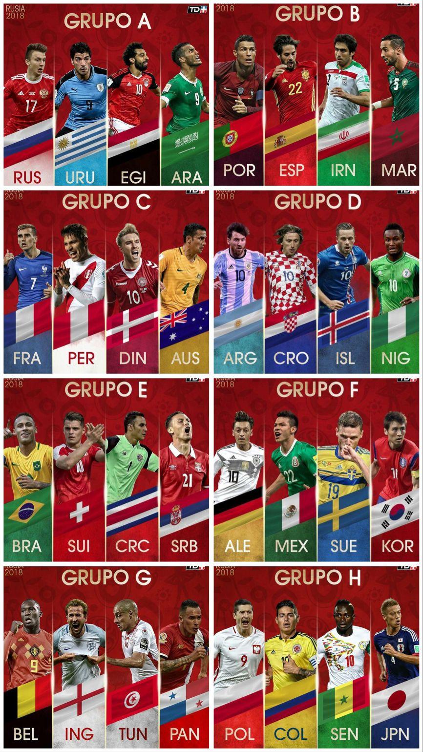 Rusia 2018 Grupos Copa Del Mundo De Futbol Rusia 2018 Copa Del Mundo