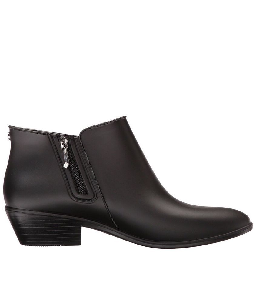 3fb19634b531 Sam Edelman Womens 12M Black Petty Ankle Rain Boots Bootie  SamEdelman   RainBoots