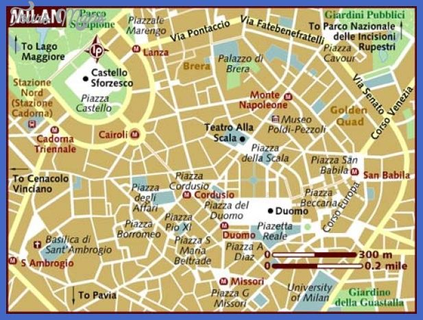 nice Milan Map Tourist Attractions Tours Maps Pinterest